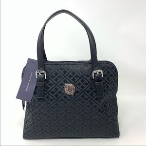 NWT Tommy Hilfiger Signature Fabric Satchel Purse